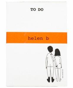 Bloc-notes Naked couple Back Helen B