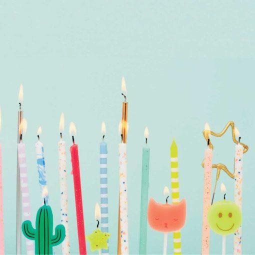 Bougies d'anniversaire pastel Meri Meri