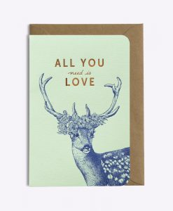 Carte All you need is love Les Editions du Paon