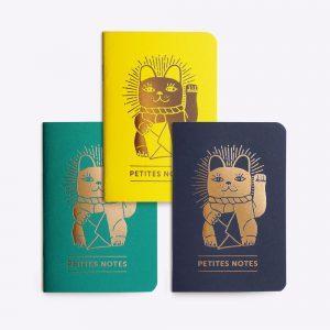 Trio de petits carnets Luck Cat Les Editions du Paon