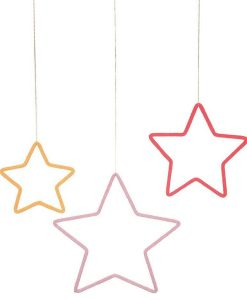 Lot de 3 étoiles en laine Meri Meri