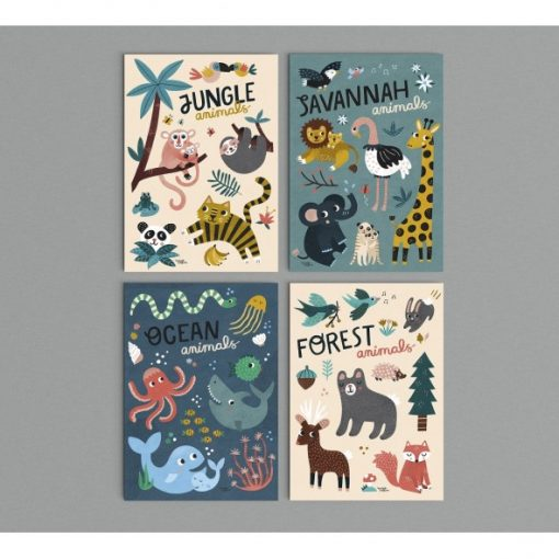 Affiche Animaux de la jungle Michelle Carlslund