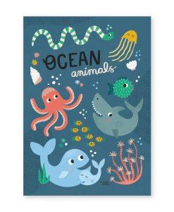 Affiche Animaux de l'océan Michelle Carlslund