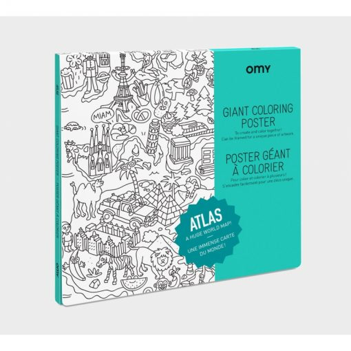 Poster à colorier Atlas OMY