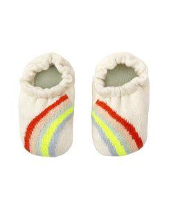 Chaussons bébé arc-en-ciel Meri Meri coton bio