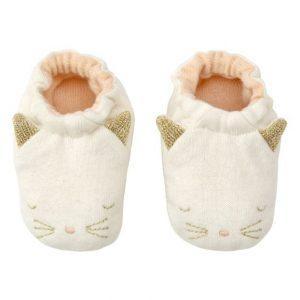 Chaussons bébé chat coton bio Meri Meri