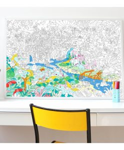 Poster à colorier Jungle OMY