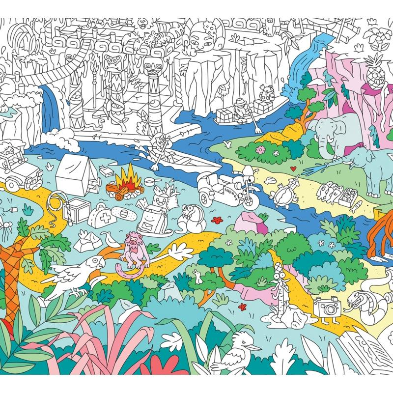 Coloriage Omy.Poster A Colorier Jungle Omy