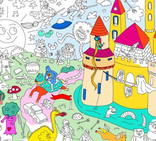 Poster à colorier Magic OMY