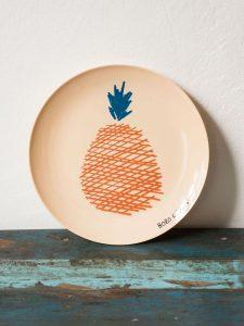 ananas assiette
