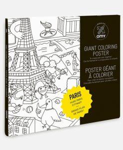 Poster à colorier Paris OMY