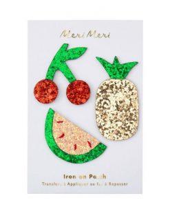 Patchs thermocollants Fruits pailletés Set de 3 Meri Meri