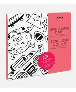 Poster à colorier Pop OMY
