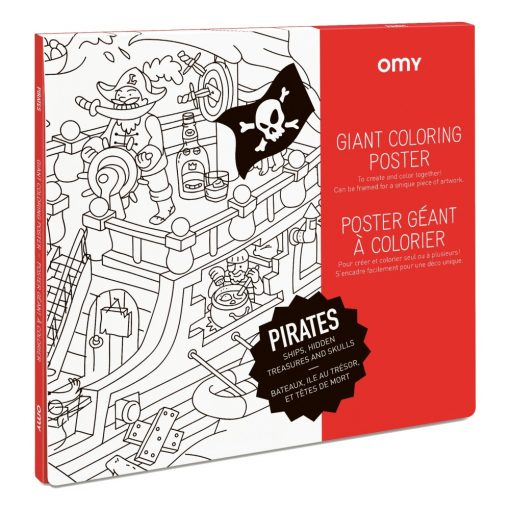 Poster à colorier Pirates OMY