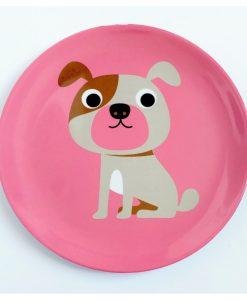 Assiette chien OMM Design / Ingela P Arrehnius Pink dog