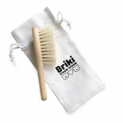 Brosse à cheveux bébé Briki Vroom Vroom chat