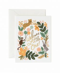 Carte enfant Rifle Paper Co Menagerie baby