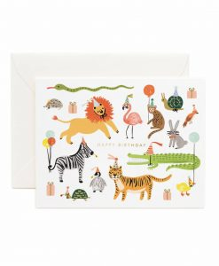 Carte anniversaire Rifle Paper Co Party animals