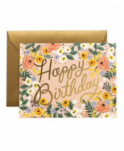 Carte anniversaire Rifle Paper Co Pastel birthday