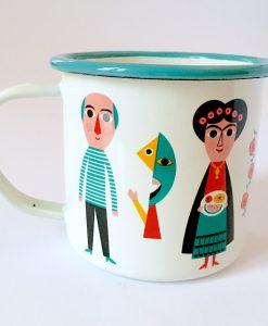 Tasse émaillée Artistes Ingela Arrhenius / Omm Design