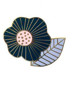 Pin's Mini Labo fleur vintage marine