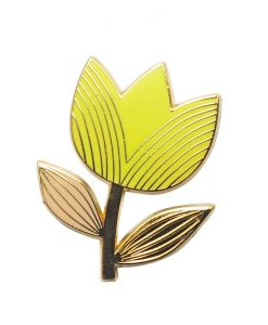 Pin's tulipe Mini Labo jaune citron
