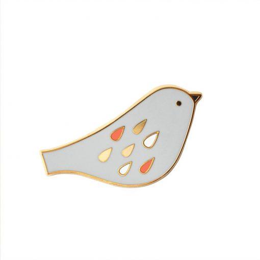 Pin's oiseau Mini Labo perle