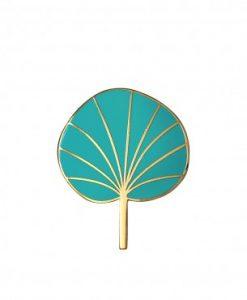 Pin's Pilea Mini Labo turquoise