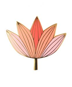 Pin's lotus rose Mini Labo