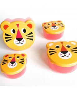Set de 4 boites à goûter Tigre Ingela Arrhenius / Omm Design