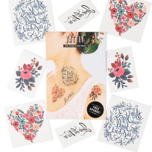 Tatouages Rifle Paper Co Floral Set – Lot de 8