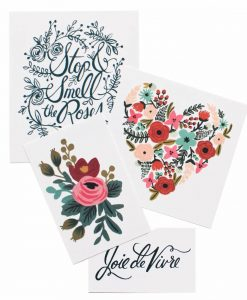 Tatouages Rifle Paper Co Floral Set – Lot de 8