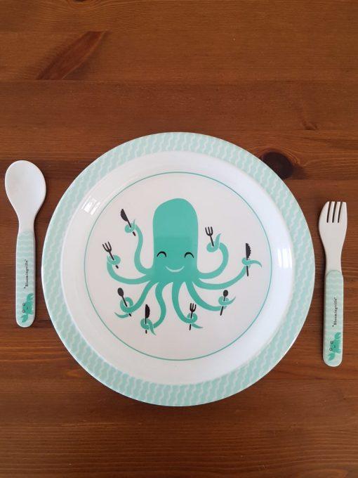 Assiette pieuvre Bloomingville Mini