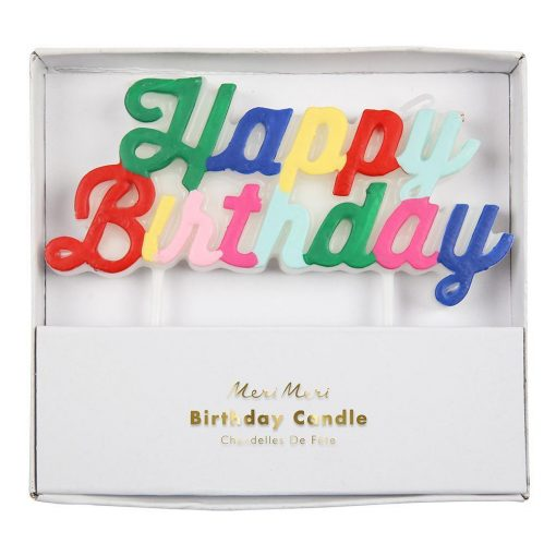 Bougies Happy Birthday Meri Meri