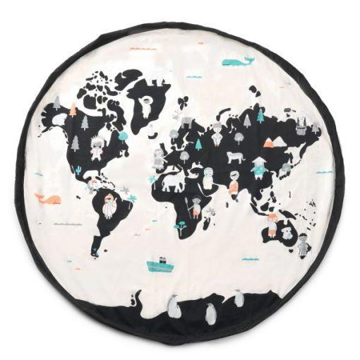 Grand sac de rangement Play and Go Carte du monde / étoiles