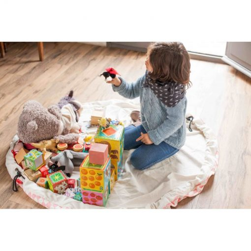 Sac / Tapis de jeu Play and Go Diamand rose
