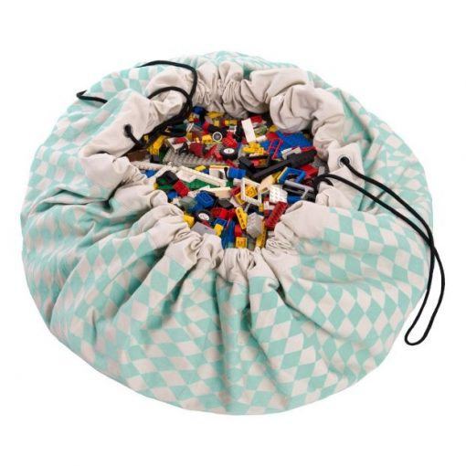 Grand sac de rangement Play and Go Diamond vert menthe