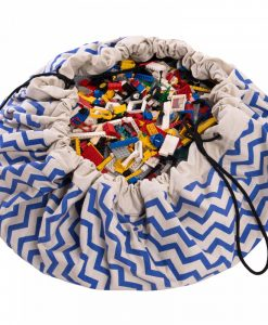 Sac / Tapis de jeu Zigzag bleu Play and Go