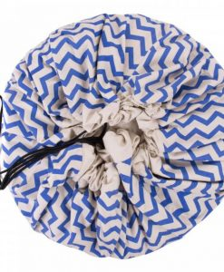 Grand sac de rangement Zigzag bleu Play and Go