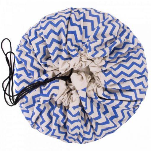 Grand sac de rangement Zigzag bleu Play and Go