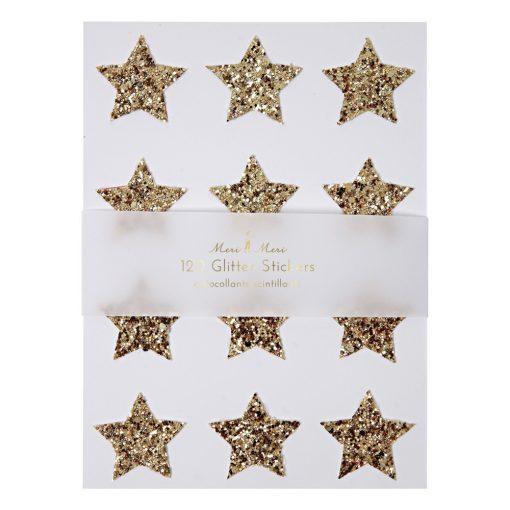 Stickers étoiles Meri Meri Set de 120, Paillettes dorées