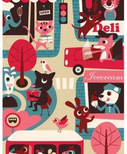 Affiche ville Ingela P. Arrhenius / OMM Design