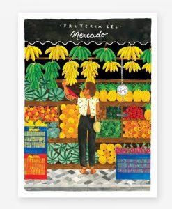 Affiche All the Ways to Say Marché aux fruits – Format au choix
