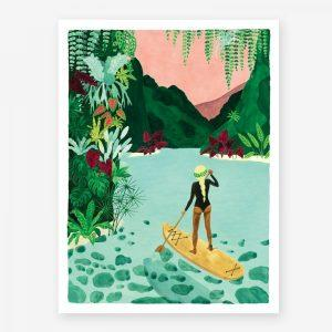 Affiche Paddle girl All the Ways to Say – Format au choix