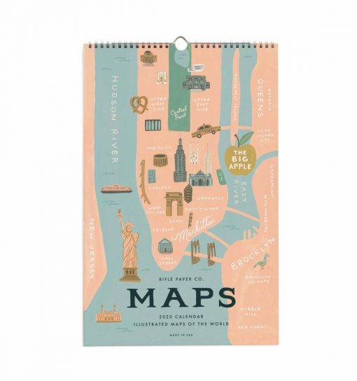 Calendrier Rifle Paper Co City Maps 2020
