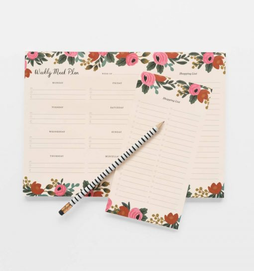 Planificateur de repas / Semainier Rifle Paper Co Rosa