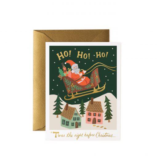 Carte de voeux Rifle Paper Co Tournée du Père Noël