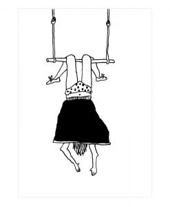 Affiche Trapeze girl Helen B