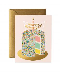 Carte anniversaire Layer cake Rifle Paper