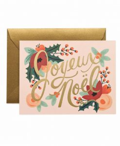 Carte Joyeux Noël Rifle Paper Co